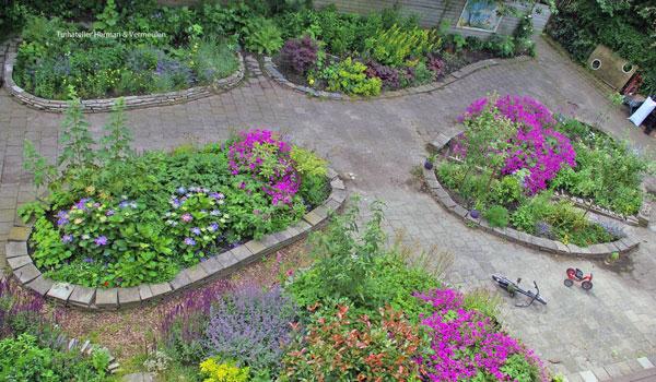 plantenborders gemeenschappelijke tuin