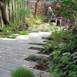 moderne natuurlijke tuin