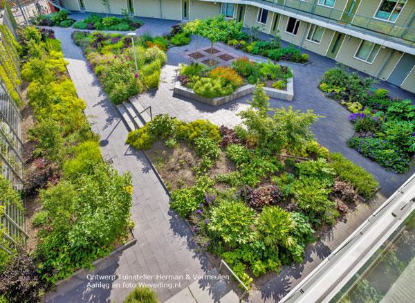 tuinontwerp gezamenlijke tuin bewoners binnentuin gemeenschappelijke tuin
