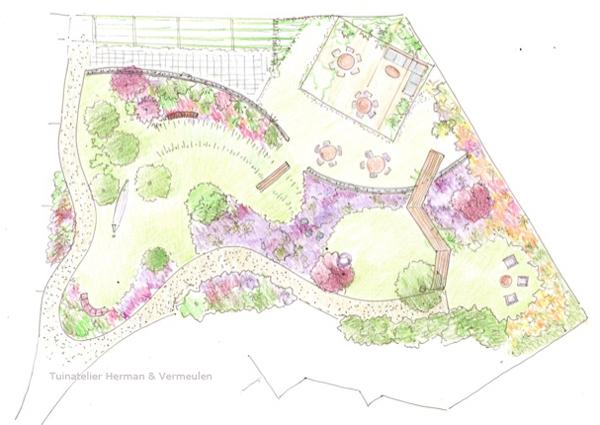 tuinontwerp gemeenschappelijke tuin